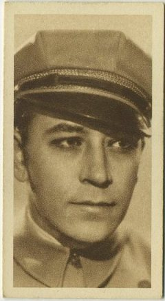 George Raft 1933 Sarony tobacco card