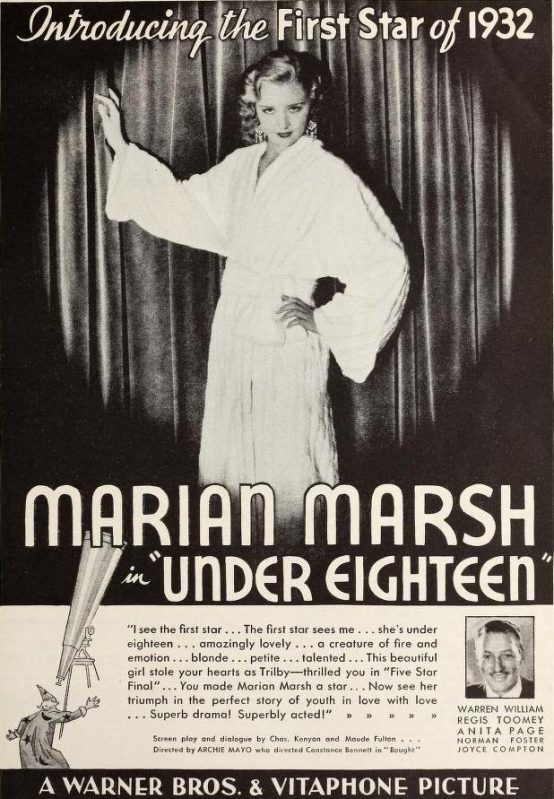 Under Eighteen 1932 advertisement
