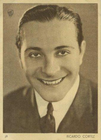 Ricardo Cortez 1930s Aguila Chocolates Trading Card