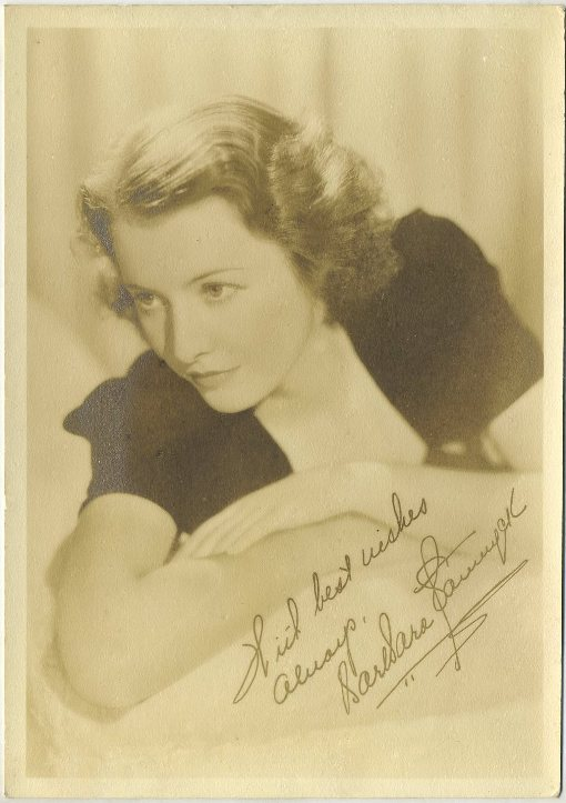 Barbara Stanwyck 1930s Fan Photo