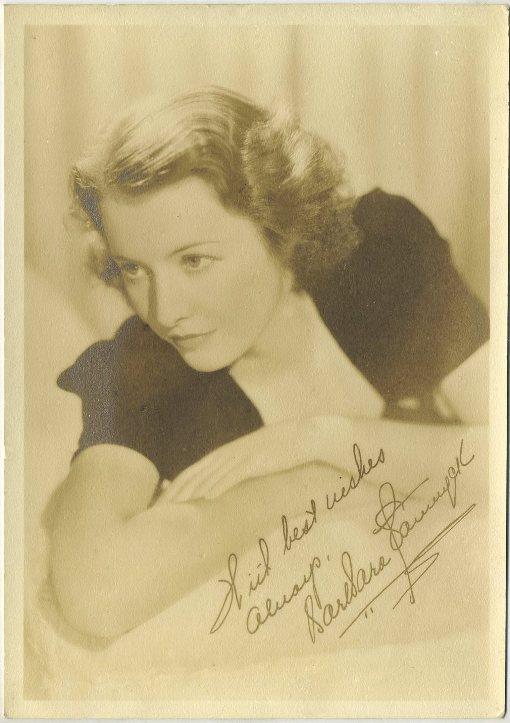 Barbara Stanwyck 1930s Fan Photo