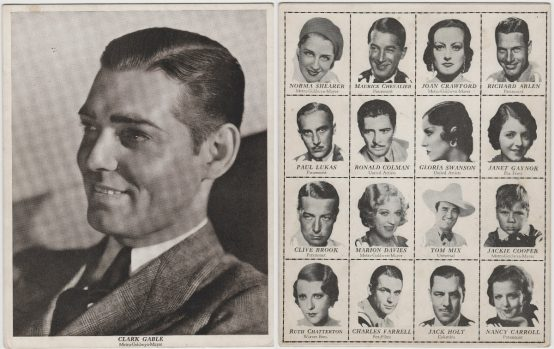 Clark Gable 1931 Movie-Land Keeno KEENO Game Board