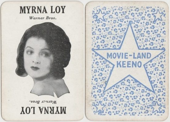Myrna Loy 1929 Movie-Land Keeno CALLING Card