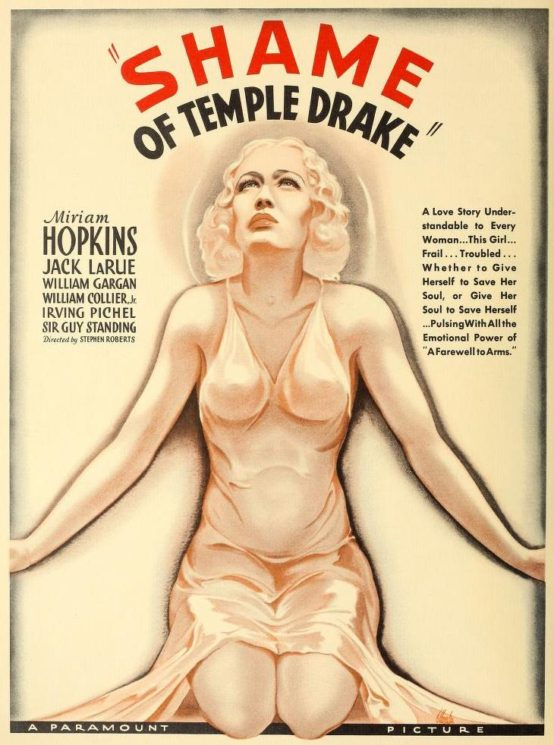 The Shame of Temple Drake Trade Ad