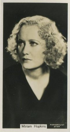 Miriam Hopkins 1934 John Sinclair Card