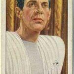Raymond Massey trading card